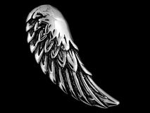 Pendant Necklace Angel Wing. One color background Royalty Free Stock Image