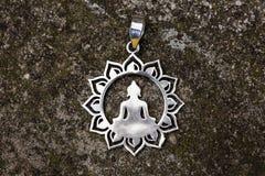 Pendant ornemental spirituel indien d'argent de style images libres de droits