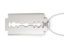 Pendant razor blade  on white background. 3d rendering Royalty Free Stock Photography