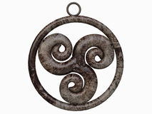 Pendant of Triskelion Celtic Symbol Stock Photos