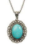 Pendant with turquoise vintage style Stock Images