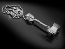 Pendant - Viking Hammer - Stainless Steel Royalty Free Stock Photo