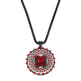 Pendant With Red Stones Royalty Free Stock Photo