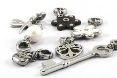 Pendants. Beautiful pendants  on white Royalty Free Stock Photo