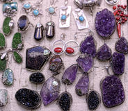Pendants amethyst Royalty Free Stock Photos