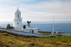 Pendeen Lighthouse Cornwall Stock Photo