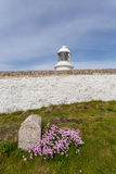 Pendeen lighthouse in cornwall england uk. Pendeen lighthouse stunning scenery in this famous artisitic location in cornwall england uk Royalty Free Stock Photography