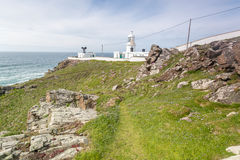 Pendeen lighthouse in cornwall england uk Stock Photos