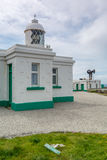 Pendeen lighthouse in cornwall england uk. Pendeen lighthouse stunning scenery in this famous artisitic location in cornwall england uk Stock Photo