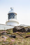 Pendeen lighthouse in cornwall england uk. Pendeen lighthouse stunning scenery in this famous artisitic location in cornwall england uk Royalty Free Stock Photos