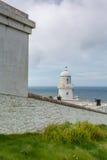 Pendeen lighthouse in cornwall england uk Stock Image