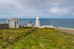 Pendeen lighthouse in cornwall england uk. Pendeen lighthouse stunning scenery in this famous artisitic location in cornwall england uk Stock Photography