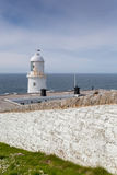 Pendeen lighthouse in cornwall england uk. Pendeen lighthouse stunning scenery in this famous artisitic location in cornwall england uk Royalty Free Stock Image