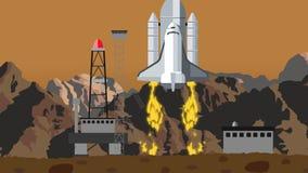Pendellancering van Rocky Space Launching Station vector illustratie
