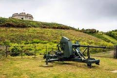 Pendenniskasteel, Falmouth, Cornwall, Engeland Royalty-vrije Stock Foto's