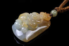 Pendente chinês do jade Fotos de Stock Royalty Free