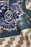Pendente circolare su una sciarpa decorativa Fotografia Stock Libera da Diritti