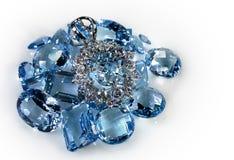 Pendente con i diamanti fotografia stock libera da diritti