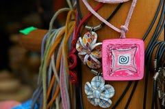 Pendente cor-de-rosa Foto de Stock