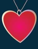 Pendente do coração Fotografia de Stock Royalty Free