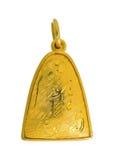 Pendente do quadro do ouro com o gra tailandês do ouro dos por cento da textura 90k do dragão Imagens de Stock