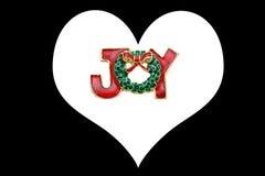 Pendente e coração do Natal imagem de stock royalty free