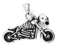 Pendentes da joia motorbike Aço inoxidável imagem de stock royalty free