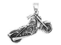 Pendentes da joia motorbike Aço inoxidável imagens de stock royalty free