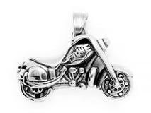Pendentes da joia motorbike Aço inoxidável imagens de stock