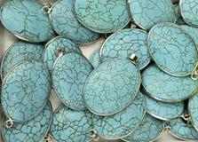 Pendentif sans couture de turquoise Photographie stock libre de droits