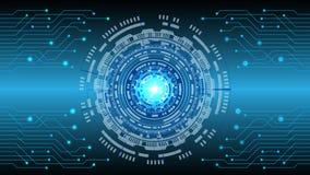 Pendenza blu a alta tecnologia dell'estratto come fondo illustrazione vettoriale