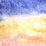 Pendenza blu, gialla e rosa del mosaico - fondo strutturato - illustrazione del mare e della spiaggia illustrazione vettoriale