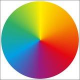 Pendenza circolare isolata dell'arcobaleno Fotografia Stock