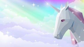 Pendenza del cielo dell'unicorno royalty illustrazione gratis