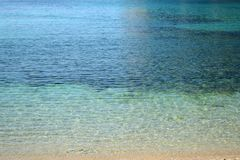 Pendenza del mare ionico fotografia stock