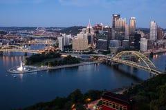 Pendenza di Duquesne e di Pittsburgh fotografia stock