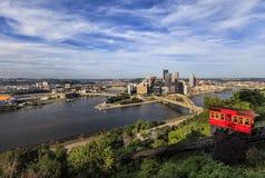 Pendenza di Duquesne a Pittsburgh immagine stock libera da diritti