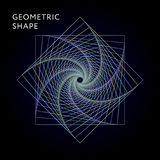 Pendenza geometrica dell'illustrazione del grafico di vettore di forma illustrazione vettoriale