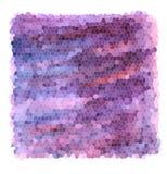 Pendenza porpora del mosaico - fondo strutturato dei colori viola e blu con i colpi rosa illustrazione vettoriale
