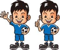 Pendenze semplici dell'archivio di calcio boy Fotografie Stock
