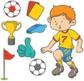 Pendenze semplici dell'archivio di calcio boy Fotografia Stock Libera da Diritti
