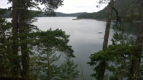 Pender海岛,乔治,不列颠哥伦比亚省,加拿大海湾  免版税库存照片