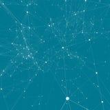 Pendiente abstracta del fondo Puntos de conexión con la línea Fotografía de archivo
