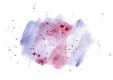 Pendiente azul y rosada de la acuarela, ejemplo pintado a mano Imágenes de archivo libres de regalías