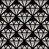 Pendiente blanco y negro inconsútil Crystal Line Art Pattern del vector Foto de archivo