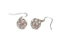 Pendiente con los diamantes Foto de archivo libre de regalías