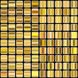 Pendiente de oro Fotografía de archivo