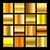 Pendiente del oro Imágenes de archivo libres de regalías