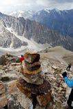 Pendiente del pico de Uchitel en ala-Archa foto de archivo libre de regalías