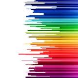 Pendiente horizontal del arco iris del infographics abstracto libre illustration